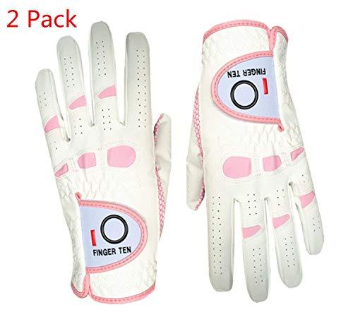 Lot de 2 gants dix doigts pour femme de golf prise en main...