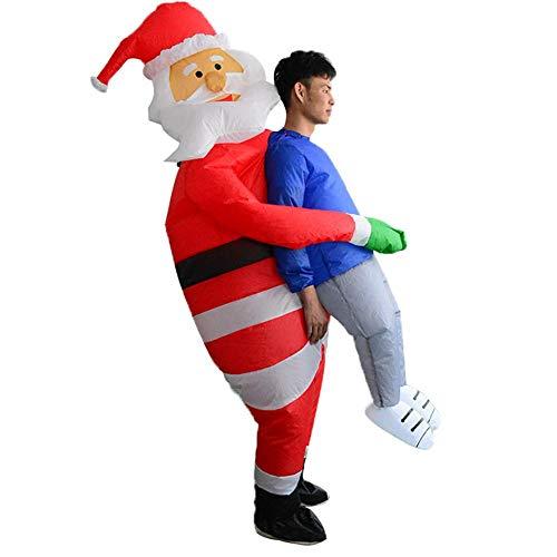Aufblasbare T Rex Kostüm Santa - Enjoyyouselves Aufblasbarer Weihnachtsman mit Gebläse,
