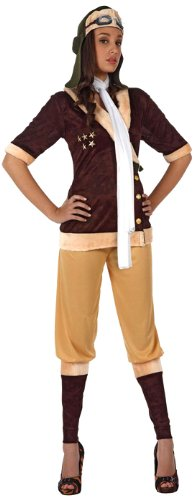 Fliegerinnen Kostüm - Fliegerinnen Kostüm für Damen