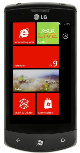 LG E900 Optimus 7 Smartphone (Vodafone Branding, Windows Phone 7) Zune-headset