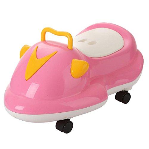 LIXIGA Baby Töpfchen 0-6 Jahre alt Extra groß Kinder Schublade Toilette Baby Töpfchen 3-in-1 Multifunktions Training Toilette Töpfchen Spiel Flaschenzug Auto Kinder Töpfchen (Farbe : Rosa)