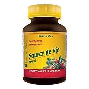 Nature s plus - Source de vie adulte - 60 comprimés - Multi-vitamines et minéraux pour vous revitali