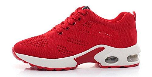 Wealsex Laufschuhe damen Freizeit sneakers Rot