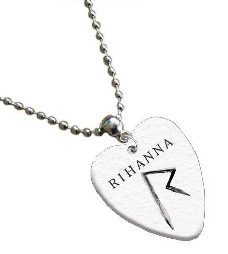 Rihanna Love Heart Guitar plektron kette Both Sides Printed