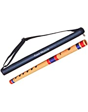 Foxit Flutes G Scale Natural Bamboo Flute/Bansuri(17 inches