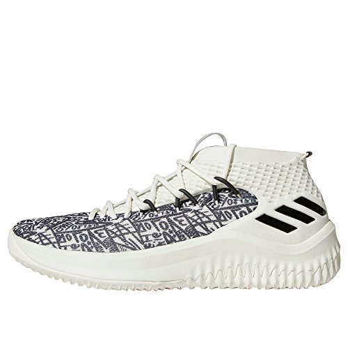 adidas Dame 4, Scarpe da Basket Uomo, Bianco Clowhi/Crywht/Cblack, 47 1/3 EU