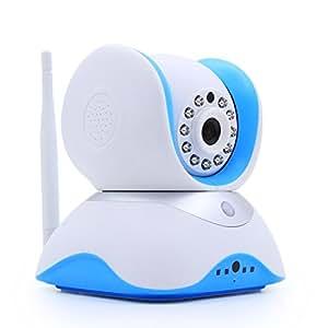 HiKam Q7 Wireless IP Kamera HD fuer Smartphone/PC, mit deutscher App/Anleitung/Support (1.3MP, HD 1280x720p, Tag/Nachtsicht, Gegensprechfunktion, WLAN, Pir-Sensor, Schwenkbar, SD Karte, 433MHz Funk)