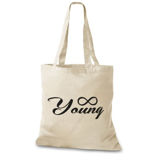 StyloBags Jutebeutel / Tasche Forever Young ? Natur