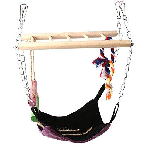 Hängebrücke mit Leiter und Hängematte Hamster zum Aufhängen Klettern Spielzeug