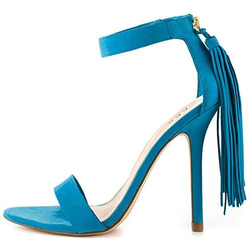 EKS Sandales Pour Femme Bleu
