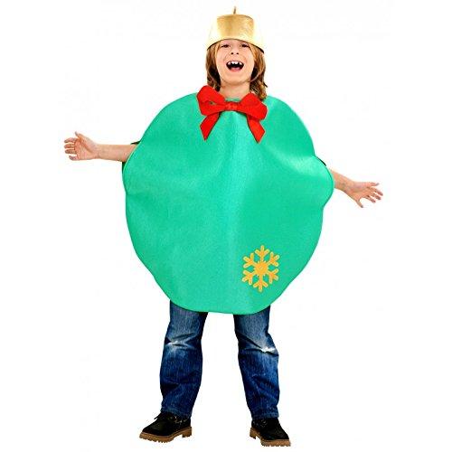 Imagen de disfraz de bola de navidad  color  verde, talla  10 12 años