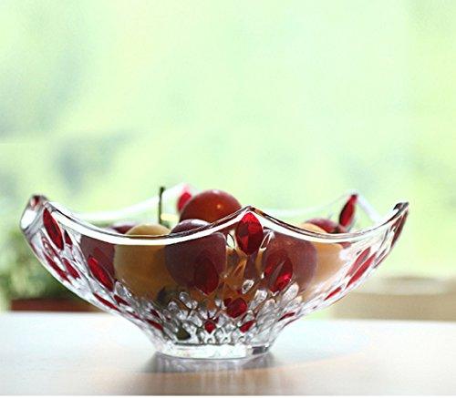 piatto di vetro/Peacock profilo vetro colorato frutta ciotola frutta lotta/ European-style matrimonio caramella piatto (Vetro Peacock)