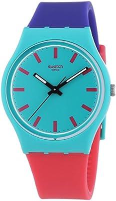 Swatch  Gent Shunbukin - Reloj de cuarzo unisex, con correa de plástico, color multicolor