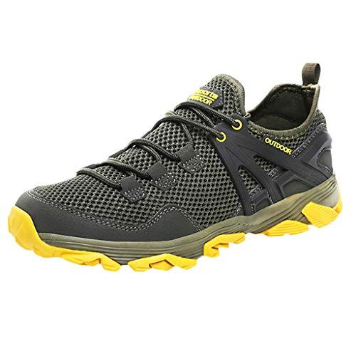 TWISFER Herren Sportlich Trekking Outdoor Schuhe Männer Sport Hiking Bergschuhe für Klettern Reisen Täglichen Gebrauch Trainer - Reise-jeans Herren