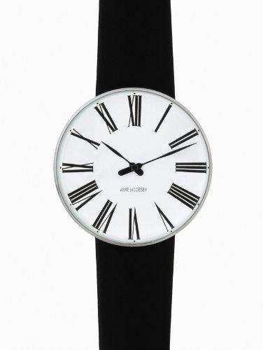 Arne-Jacobsen-Roman-Unisex-Watch-43432-with-Black-Calf-Skin-Strap-Small
