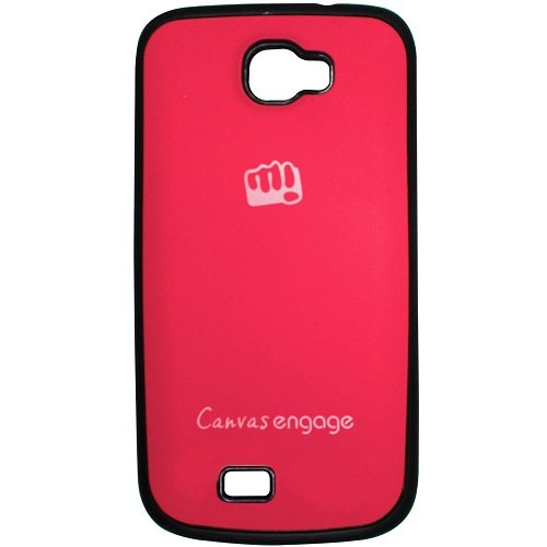 Casotec TPU Back Case Cover for Micromax Canvas Engage A091 - Pink  available at amazon for Rs.175