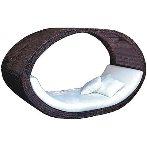 Imitación bambú - rota mimbre ocio sofá cama