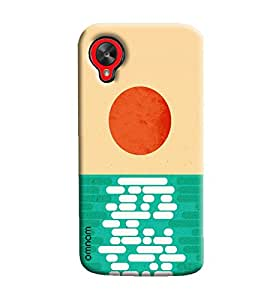 Omnam Bricks And Sun Pattern Combination Printed Designer Back Cover Case For Goolge Nexus 5
