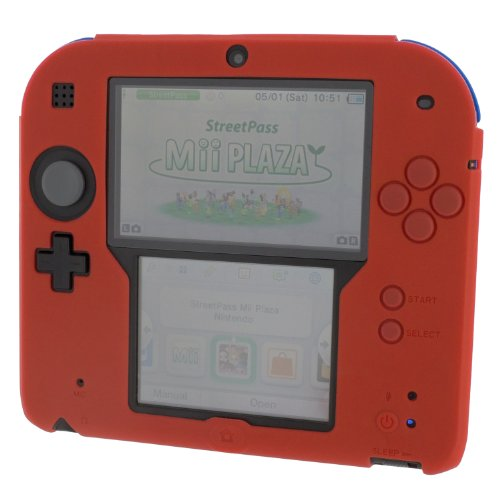 zedlabz-soft-silicone-gel-protective-cover-rubber-bumper-case-for-nintendo-2ds-red