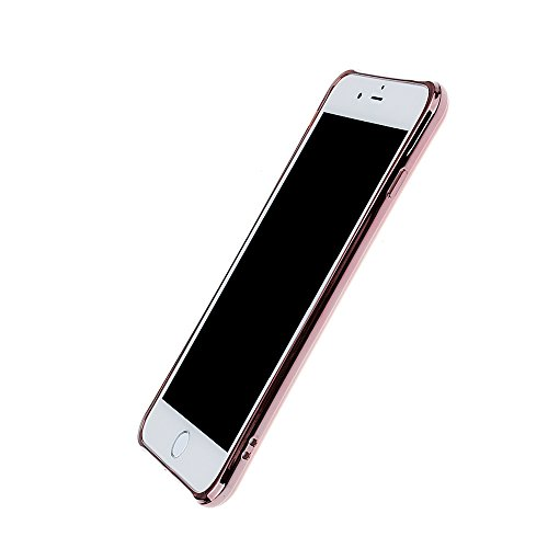 "xhorizon FM8 Elegant Transparent TPU Weich 360 Grad Drehende Kickstand Überzug Case Cover für iPhone 7 Plus [5.5""] (Golden) Rose-gold"