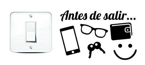 Vinilo ANTES DE SALIR interruptor. Thermodernizate