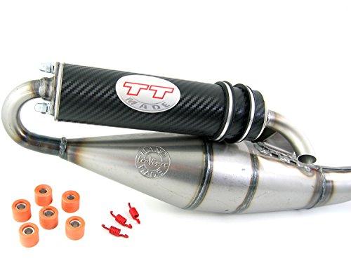 Leovince TT carbon, Tuning Sport Auspuff Peugeot Jetforce 50 C-Tech / Auspuff Peugeot Citystar 50 (2-Takt)