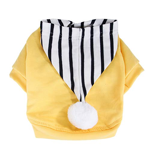 Dog Kostüm Bilder Cute - 2019 Sweatshirt Schlafanzüge, Hawkimin Spring Sommer Herbst Cute Striped Cap Pet Dog Cat Puppy Shirt Clothes Apparel Haustierkleidung Hund Kleidung Hundekleidung Hundebekleidung