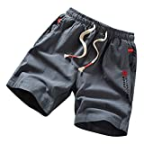 OGGI-Pantaloncini Shorts da Sportivo Casuali Pantaloni da Spiaggia Sportivo Bodybuilding Pantaloncini Bermuda Shorts da Uomo Comodo Biancheria in Cotone Vacanza Shorts