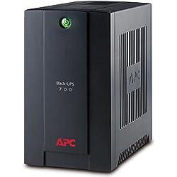 APC Back-UPS BX - BX700UI - Onduleur 700VA (AVR, 4 Prises IEC C13, USB, Logiciel d'arrêt)