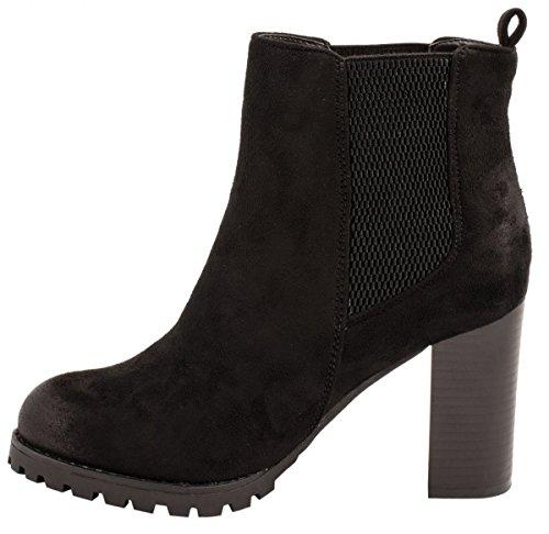 Elara Ankle Boots | Trendige Stivaletti Donna | Blocco Tacco Plateau | chunkyr ayan Schwarz Berlin