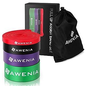 Awenia Fitnessbänder Resistance Bands Widerstandsbänder Expander Set or Single mit Übungsanleitungm,100% Naturlatex Gymnastikband für Klimmzughilfe