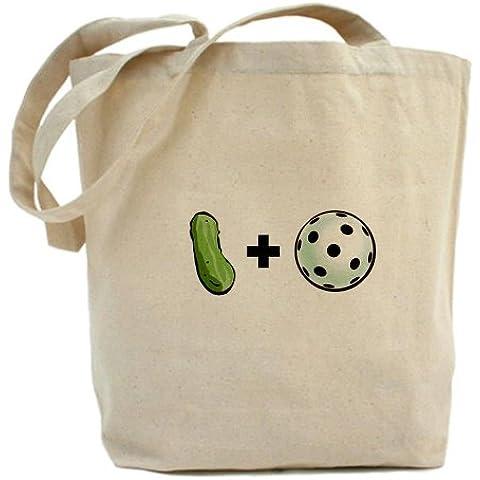 CafePress–Pickle + Palla Tote Bag–Borsa di tela naturale, panno borsa