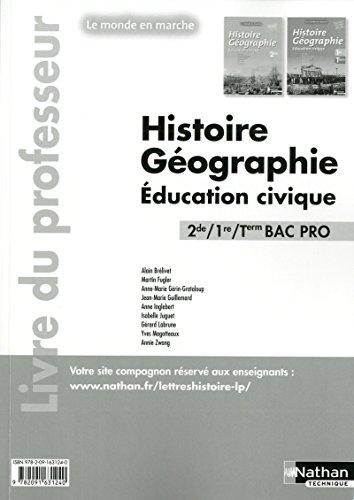 Histoire- Géographie- Education civique - 2de/ 1re/ Term Bac Pro