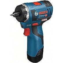 Bosch Professional GSR 10,8 V-EC HX Trapano Avvitatore a Batteria, Ioni di Litio, 2 Ah, 700 g, Blu