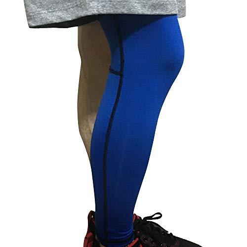 Sport im Freien 1 Stück Unisex Overknee Leg Sleeve Basketball Compression Lange Wadenärmel Strumpfhosen Brace Guard Protector Gear Antislip Dehnbarer Schienbeinwärmer für Radfahren Laufen Fußball Cros -