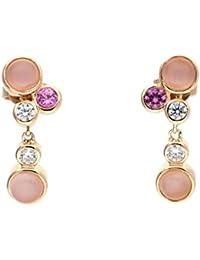Esprit Ohrringe Silber rosevergoldet Zirkonia sweet parfait weiß ESER92719B000