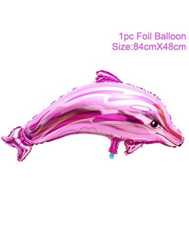 WSJQQ Tierfolienballon Tierballons Geburtstagsparty Dekor Kindergeburtstag Unter Dem Meer Party Dekor Shark Party Supplies pink Dolphin Pink Dolphin-fall