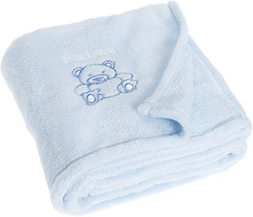Playshoes 301700-17 Baby Set Fleece, Babydecke, blau