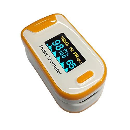 YUEHG Pulsioxímetro para Medir la Saturación de Oxígeno en la Sangre la Frecuencia Cardíaca Oxímetro con Pantalla OLED y Simple Operación de un Solo Toque,Orange