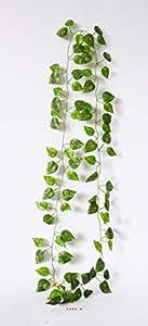 Artif-déco - Guirlande de feuillage artificiel 205 cm 81 feuilles non armee