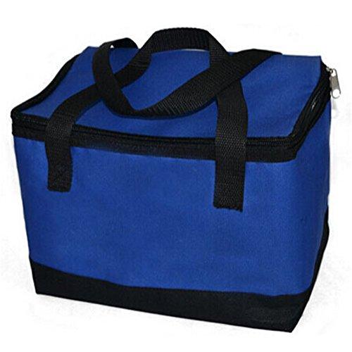 cooler bag - isolierung große mahlzeit essen picknick - paket - thermische isolierte wasserdichte tasche Blau