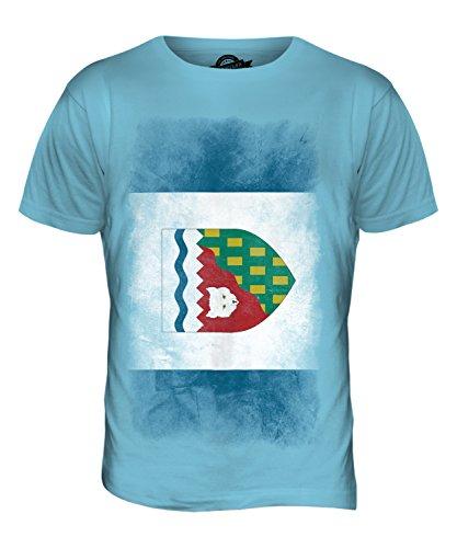 CandyMix Nordwest-Territorien Verblichen Flagge Herren T Shirt Himmelblau
