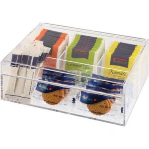 Stalwart M11563 Boîte à thé, 4 compartiments, Transparent