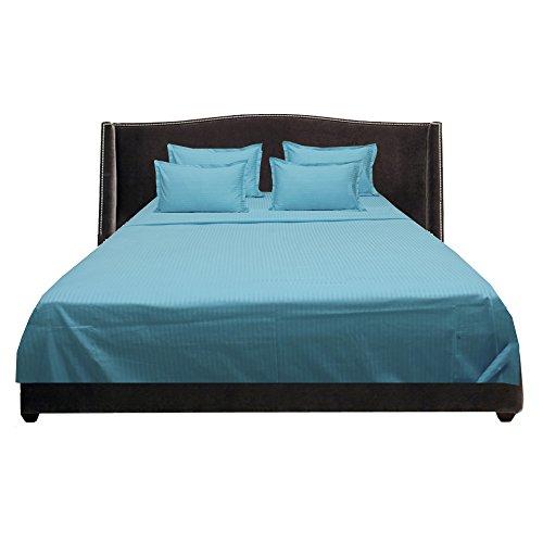 royallinens-600tc-magnifique-lot-de-6-feuilles-de-rayures-taille-de-poche-686-cm-coton-turquoise-blu