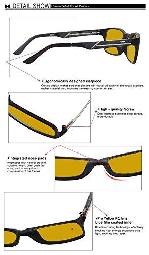 88bc68528d93 Glasses for video games Duco 223 PRO Anti-glare protection anti-fatigue anti  UV Computer Glasses – Blue light blocking ...