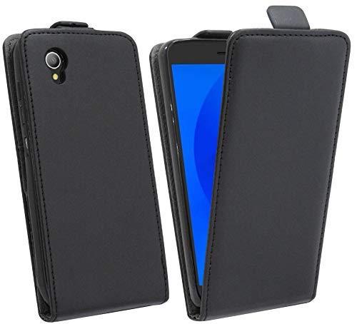 Klapptasche kompatibel mit Alcatel 1 (5033D) Schutztasche Schutzhülle Flip Tasche Hülle Zubehör Etui in Schwarz Tasche Hülle @cofi1453®