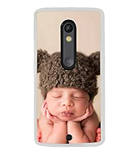 Cute Kid with Brown Cap 2D Hard Polycarbonate Designer Back Case Cover for Motorola Moto X Style :: Moto X Pure Edition