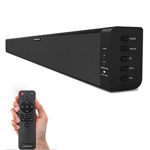 LONPOO Bluetooth Barra de Sonido 2.0 Canales