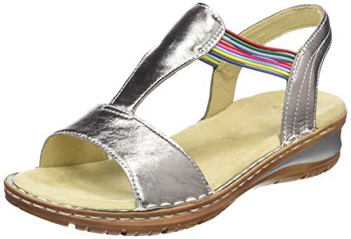 ARA Damen Hawaii 1237206 T-Spangen Sandalen, Beige (Zinn, Piombo 76), 40 EU