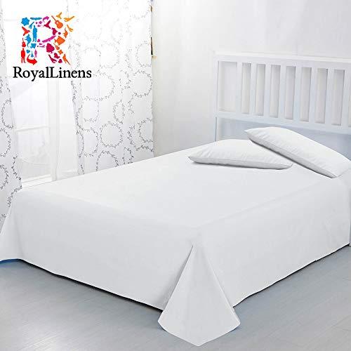 RoyalLinens 600tc 100% ägyptische Baumwolle elegant Finish 3Bettlaken massiv, Baumwolle, White Solid, UK_Double